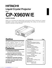 hitachi cpx960 xga lcd projector manuals rh manualslib com epson projector user manuals optoma projector user manual