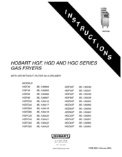 Hobart HGF65 ML-126996 Instruction Manual