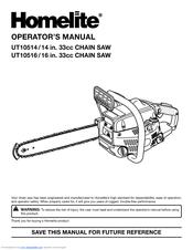 HOMELITE UT10514/14 IN  33CC OPERATOR'S MANUAL Pdf Download