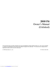 Honda 00X31-TK6-6100 Owner's Manual