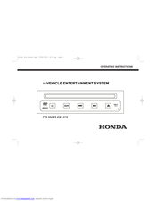 Honda 08A23-2G1-010 Operating Instructions Manual