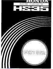 honda hs35 owner s manual pdf download rh manualslib com honda hs35 snow thrower owner's manual honda hs35 snow thrower owner's manual