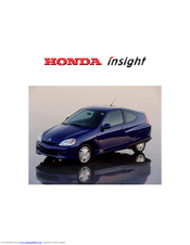 Honda Insight Owner's Manual