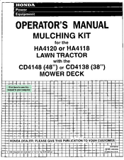 Honda CD4138 Operator's Manual