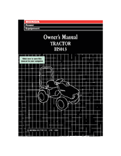 Honda H5013 Owner's Manual