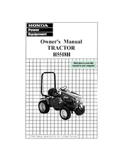Honda H5518H A4 Owner's Manual