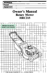 honda hrc215 owner s manual pdf download rh manualslib com Honda Lawnmower Honda Powered Push Mowers