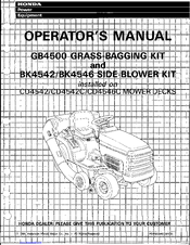 Honda BK4546 Operator's Manual