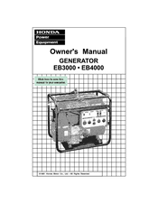 Honda EB3000 Owner's Manual