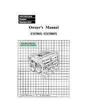 honda em3500sx manuals rh manualslib com Honda Generator Parts Honda 3500 Generator