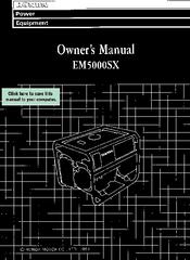 honda em5000sx manuals rh manualslib com Nissan Altima Repair Manual EM5000SX Model