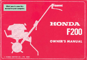 Honda F200 Owner's Manual