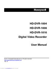 Honeywell HD-DVR-1008 Manuals