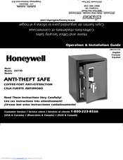 Honeywell 2077D - 1.21 Cubic Foot Anti-Theft Safe Operations & Installation Manual