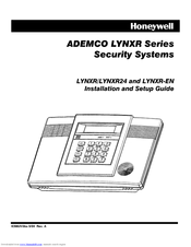 Honeywell ADEMCO LYNXR Series Installation And Setup Manual