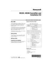 honeywell he220 installation instructions owner s manual pdf download rh manualslib com Old Honeywell Thermostat Wiring Diagram Honeywell Programmable Thermostat Wiring Diagram