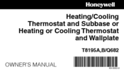 Honeywell T8195A Owner's Manual