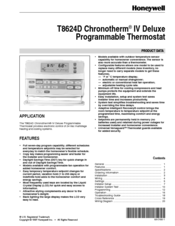 honeywell chronotherm iv deluxe t8624d manuals rh manualslib com Honeywell Security Manuals Honeywell Thermostat Operating Manual
