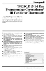honeywell chronotherm iii t8624d manuals rh manualslib com Honeywell Thermostat Programming Manual Honeywell Thermostat Programming Manual