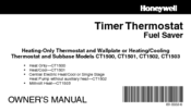 Honeywell CT1500 Owner's Manual
