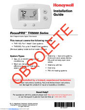 honeywell focuspro th5110d installation manual pdf download rh manualslib com honeywell th5110d1006 install manual honeywell th5110d installation instructions