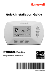 Honeywell RTH6400D Quick Installation Manual
