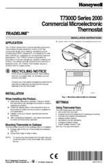 honeywell t7300d manuals rh manualslib com Honeywell T7400 Honeywell Programmable Thermostat Wiring