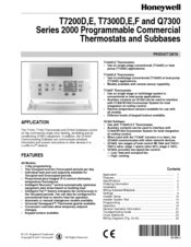honeywell t7300f manuals rh manualslib com Honeywell T7400 Honeywell Programmable Thermostat Wiring