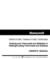 Honeywell 191108AJ Owner's Manual