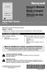 Honeywell T822 Owner's Manual