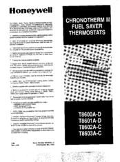 Honeywell T8602A-C User Manual