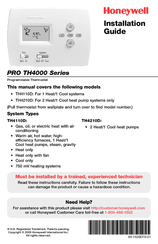 honeywell pro th4110d manuals rh manualslib com Honeywell Pro 9000 Thermostat Honeywell Thermostat TH4110D1007 Remove From Wall