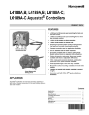 Honeywell AQUASTAT L6188B User Manual