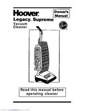 hoover legacy supreme s2200 manuals rh manualslib com Hoover Upright Vacuum Cleaners Hoover Power Drive Vacuum