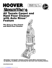Hoover steamvac manuals.