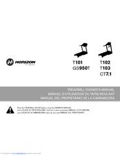 Horizon t100 treadmill tm629c.