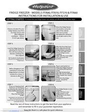 hotpoint ffa70 manuals rh manualslib com hotpoint refrigerator manual hotpoint refrigerator manual defrost