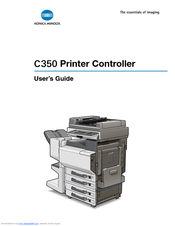Konica Minolta C350 User's Manual