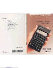 HP 10B - 10B Financial Calculator Owner's Manual