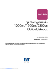 HP StorageWorks 1900ux User Manual