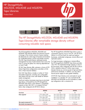 HP MSL8096 Product Brief