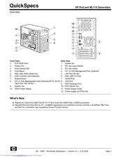 HP ProLiant ML110 Quickspecs