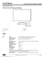 Hp l2445w 24-inch widescreen lcd monitor user guides | hp.