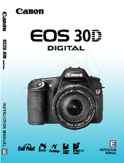 canon eos 30d instruction manual pdf download rh manualslib com canon eos 30d user manual pdf canon 30d user guide