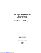 HP Model 750 - Workstation Owner's Manual