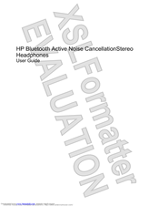 HP Bluetooth Active Noise Cancellation Stereo Headphones User Manual