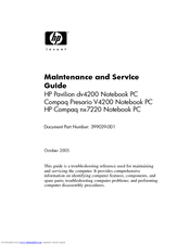 HP Pavilion DV4227 Maintenance And Service Manual