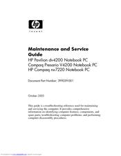 HP Pavilion DV4227 Maintenance And Service Manual