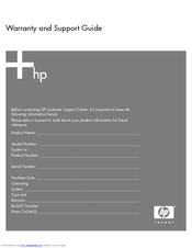 HP A1224n - Pavilion - 1 GB RAM Warranty And Support Manual