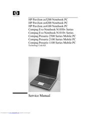 Compaq presario 2500 notebook pc manual.